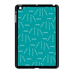 Digital Art Minimalism Abstract Candles Blue Background Fire Apple Ipad Mini Case (black) by Simbadda