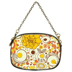 Cute Fall Flower Rose Leaf Star Sunflower Orange Chain Purses (one Side)