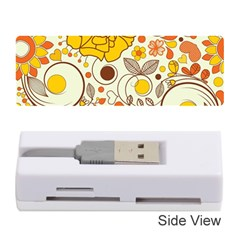 Cute Fall Flower Rose Leaf Star Sunflower Orange Memory Card Reader (stick)  by Alisyart
