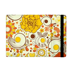 Cute Fall Flower Rose Leaf Star Sunflower Orange Apple Ipad Mini Flip Case by Alisyart