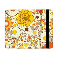 Cute Fall Flower Rose Leaf Star Sunflower Orange Samsung Galaxy Tab Pro 8 4  Flip Case by Alisyart