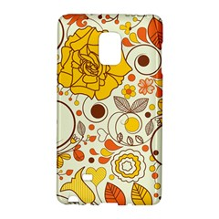 Cute Fall Flower Rose Leaf Star Sunflower Orange Galaxy Note Edge by Alisyart