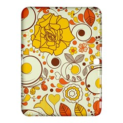 Cute Fall Flower Rose Leaf Star Sunflower Orange Samsung Galaxy Tab 4 (10 1 ) Hardshell Case  by Alisyart