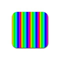Rainbow Gradient Rubber Coaster (square)  by Simbadda