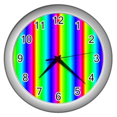Rainbow Gradient Wall Clocks (silver)  by Simbadda