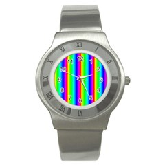 Rainbow Gradient Stainless Steel Watch by Simbadda