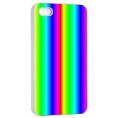 Rainbow Gradient Apple Iphone 4/4s Seamless Case (white) by Simbadda