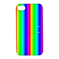 Rainbow Gradient Apple Iphone 4/4s Hardshell Case With Stand by Simbadda