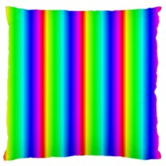 Rainbow Gradient Large Flano Cushion Case (two Sides) by Simbadda