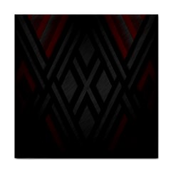 Abstract Dark Simple Red Tile Coasters