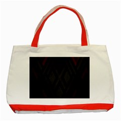 Abstract Dark Simple Red Classic Tote Bag (red) by Simbadda