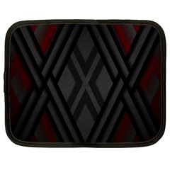 Abstract Dark Simple Red Netbook Case (large) by Simbadda