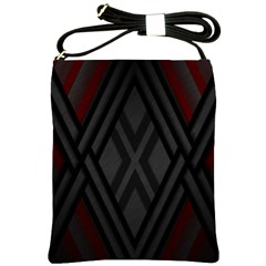 Abstract Dark Simple Red Shoulder Sling Bags by Simbadda