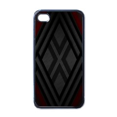 Abstract Dark Simple Red Apple Iphone 4 Case (black) by Simbadda