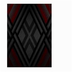 Abstract Dark Simple Red Large Garden Flag (two Sides) by Simbadda