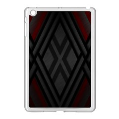 Abstract Dark Simple Red Apple Ipad Mini Case (white) by Simbadda