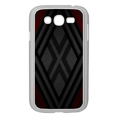 Abstract Dark Simple Red Samsung Galaxy Grand Duos I9082 Case (white) by Simbadda