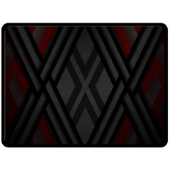 Abstract Dark Simple Red Double Sided Fleece Blanket (large)  by Simbadda