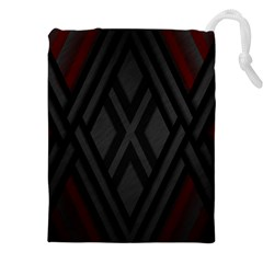 Abstract Dark Simple Red Drawstring Pouches (xxl)