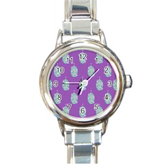 Disco Ball Wallpaper Retina Purple Light Round Italian Charm Watch by Alisyart