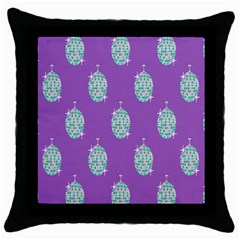 Disco Ball Wallpaper Retina Purple Light Throw Pillow Case (black) by Alisyart