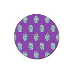 Disco Ball Wallpaper Retina Purple Light Rubber Coaster (round)  by Alisyart