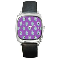 Disco Ball Wallpaper Retina Purple Light Square Metal Watch by Alisyart