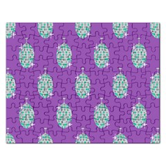 Disco Ball Wallpaper Retina Purple Light Rectangular Jigsaw Puzzl by Alisyart