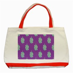 Disco Ball Wallpaper Retina Purple Light Classic Tote Bag (red) by Alisyart