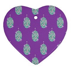 Disco Ball Wallpaper Retina Purple Light Heart Ornament (two Sides) by Alisyart
