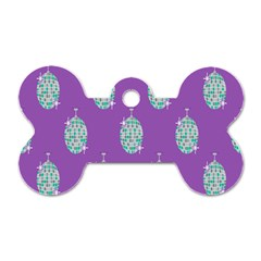 Disco Ball Wallpaper Retina Purple Light Dog Tag Bone (two Sides)