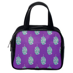 Disco Ball Wallpaper Retina Purple Light Classic Handbags (one Side)