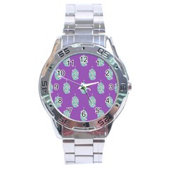 Disco Ball Wallpaper Retina Purple Light Stainless Steel Analogue Watch