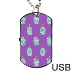Disco Ball Wallpaper Retina Purple Light Dog Tag Usb Flash (two Sides)