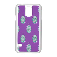 Disco Ball Wallpaper Retina Purple Light Samsung Galaxy S5 Case (white)