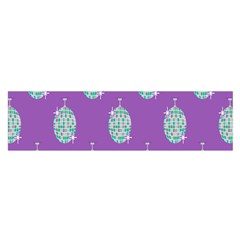 Disco Ball Wallpaper Retina Purple Light Satin Scarf (oblong) by Alisyart