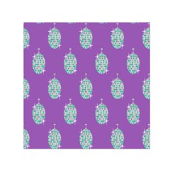 Disco Ball Wallpaper Retina Purple Light Small Satin Scarf (square)