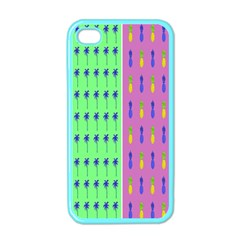 Eye Coconut Palms Lips Pineapple Pink Green Red Yellow Apple Iphone 4 Case (color)