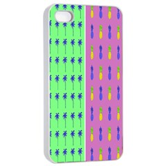 Eye Coconut Palms Lips Pineapple Pink Green Red Yellow Apple Iphone 4/4s Seamless Case (white) by Alisyart