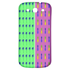 Eye Coconut Palms Lips Pineapple Pink Green Red Yellow Samsung Galaxy S3 S Iii Classic Hardshell Back Case by Alisyart