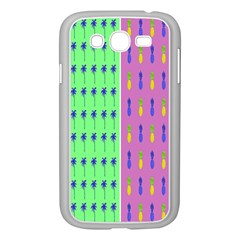 Eye Coconut Palms Lips Pineapple Pink Green Red Yellow Samsung Galaxy Grand Duos I9082 Case (white) by Alisyart