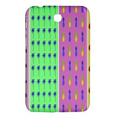 Eye Coconut Palms Lips Pineapple Pink Green Red Yellow Samsung Galaxy Tab 3 (7 ) P3200 Hardshell Case  by Alisyart