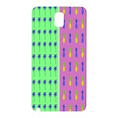Eye Coconut Palms Lips Pineapple Pink Green Red Yellow Samsung Galaxy Note 3 N9005 Hardshell Back Case