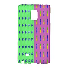 Eye Coconut Palms Lips Pineapple Pink Green Red Yellow Galaxy Note Edge by Alisyart