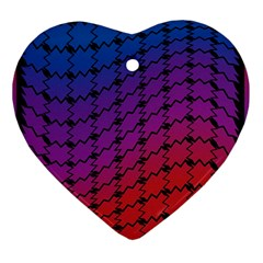 Colorful Red & Blue Gradient Background Ornament (heart) by Simbadda