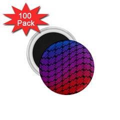 Colorful Red & Blue Gradient Background 1 75  Magnets (100 Pack)