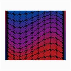 Colorful Red & Blue Gradient Background Small Glasses Cloth by Simbadda