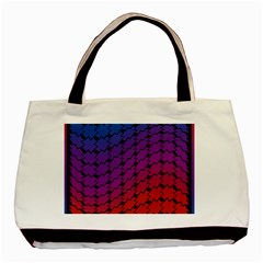 Colorful Red & Blue Gradient Background Basic Tote Bag (two Sides) by Simbadda