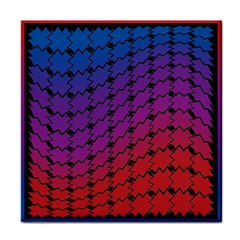Colorful Red & Blue Gradient Background Face Towel by Simbadda