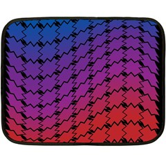 Colorful Red & Blue Gradient Background Fleece Blanket (mini) by Simbadda
